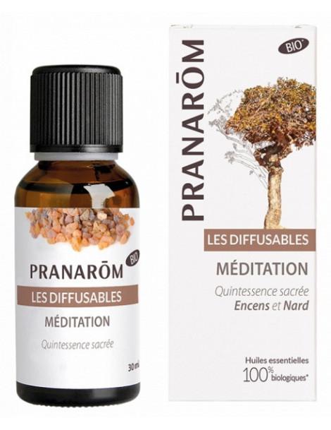 Les diffusables Meditation et Saintes Odeurs  30ml Pranarôm - Composition à diffuser - aromathérapie abcbeauté