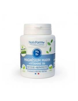 Magnésium marin Vitamine B6 Original 40 gélules Nat et Form stress nervosité Abcbeauté
