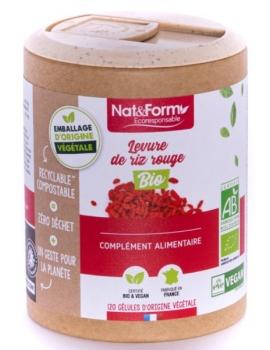 Levure de riz rouge Bio 120 gélules Nat et Form monascus purpureus Abcbeauté