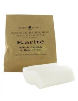 Savon Beurre de Karité Extra Doux Surgras 100 gr Terres Dorées