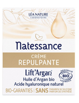 Crème Repulpante Anti rides Lift'Argan 50 ml Natessance