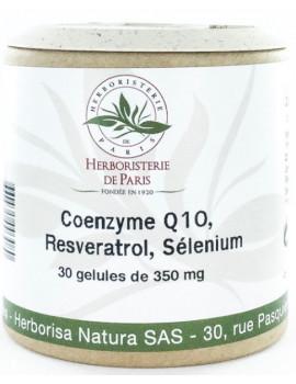 Coenzyme Q10 Fort Resveratrol Sélénium 30 Gélules Herboristerie de Paris