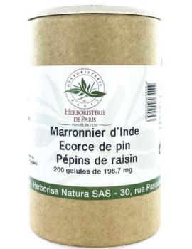 Marronnier d'Inde OPC Pin Raisin Vitamine E 200 Gélules Herboristerie de Paris