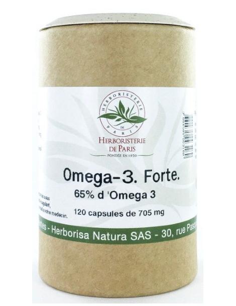 Omega 3 forte 65% 120 capsules de 705 mg huile de poisson concentrée Herboristerie de paris Abcbeauté