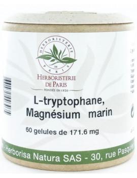 L Tryptophane Magnésium marin Vitamines E B6 60 Gélules Herboristerie de paris équilibre nerveux Abcbeauté