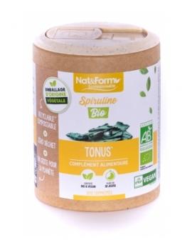Spiruline Bio 200 comprimés Nat et Form ECO,  Spiruline,  Actifs Nutritionnels,  abcBeauté.