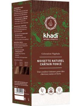 Coloration végétale Noisette Naturel Châtain foncé 100 gr Khadi cheveux chatain moyen Abcbeauté