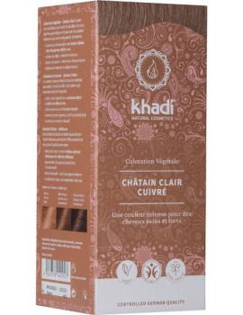 Coloration végétale Chatain Clair Cuivré 100 gr Khadi cheveux chatains Abcbeauté