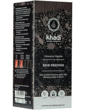 Coloration végétale Noir Profond 100 gr Khadi soin colorant cheveux chatains Abcbeauté