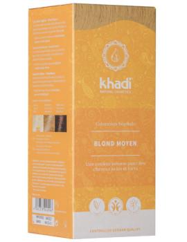 Coloration végétale Blond Moyen 100 gr Khadi sans reflets Abcbeauté