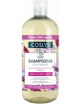 shampooing ECLAT COULEUR cheveux colorés Immortelle bleue 500 ml Coslys - shampooing bio abcbeauté
