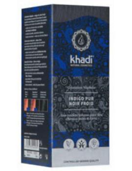 Coloration végétale Indigo Pur Noir Froid 100 gr Khadi pour cheveux chatains Abcbeauté