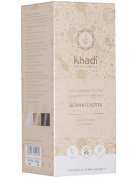 Coloration végétale Senna/Cassia Henné Naturel 100 gr Khadi henné neutre reflets dorés Abcbeauté
