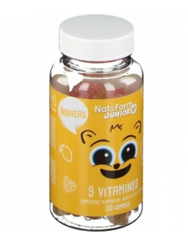 9 Vitamines Junior plus 30 oursons Nat et Form enfants vitalité Abcbeauté