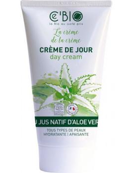 Crème hydratante visage Gel Natif Aloe vera 50 ml C'Bio cire d'abeille tournesol Abcbeauté