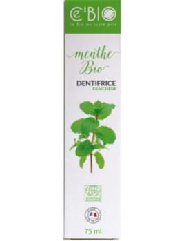 Dentifrice Fraicheur Menthe bio 75 ml C'BIO dentifrice bio Abcbeauté