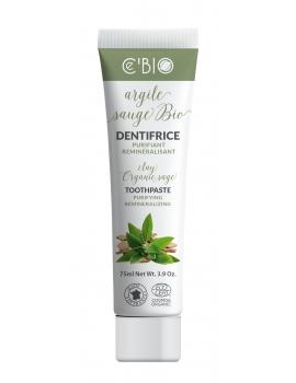Dentifrice Argile Sauge bio 75 ml C'BIO dentifrice bio blanchissant Abcbeauté