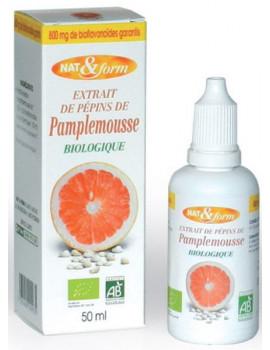 Extrait de pépins de pamplemousse 800mg 50 ml - Nat et Form bioflavonoides Abcbeauté
