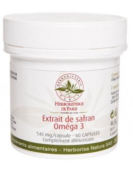 Extrait de Safran Oméga 3 60 capsules Herboristerie de Paris bien être émotionnel Abcbeauté