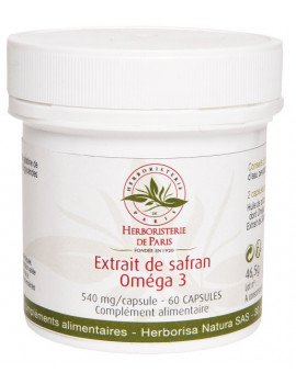 Extrait de Safran Oméga 3 60 capsules Herboristerie de Paris