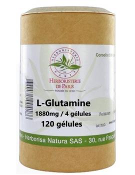 L Glutamine 120 Gélules Herboristerie de Paris acide aminé essentiel confort intestinal Abcbeauté