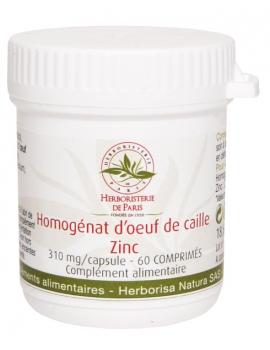 Homogénat d'Oeuf de Caille Zinc 60 Comprimés Herboristerie de Paris modulation de l'immunité Abcbeauté