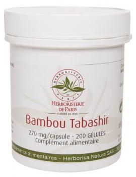 Bambou Tabashir silicium organique 200 gélules Herboristerie de Paris tendons cartilages tissu conjonctif Abcbeauté
