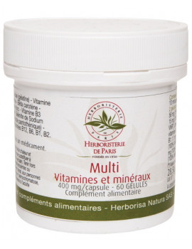 Multi Vitamines et minéraux 60 Gélules Herboristerie de Paris