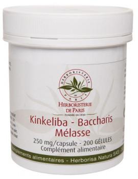 Kinkeliba Baccharis Mélasse 200 Gélules Herboristerie de Paris