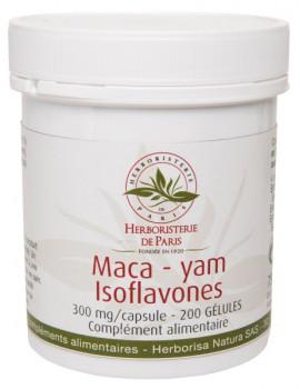 Maca yam Isoflavones 200 gélules - Herboristerie de Paris stimulant ménopause Abcbeauté
