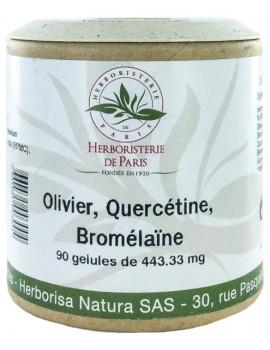 Olivier Quercétine Bromélaïne 90 Gélules Herboristerie de Paris coeur palpitations antioxydant Abcbeauté