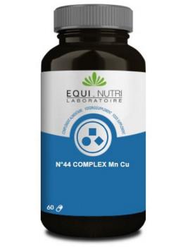 N°44 complex Manganèse Cuivre 60 gélules végétales  Equi - Nutri métabolisme général articulations Abcbeauté