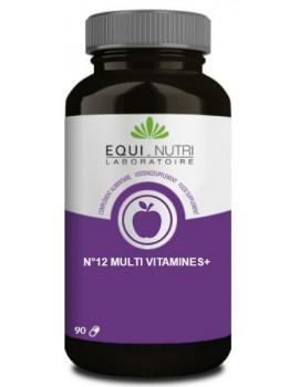 N°12 Multi-Vitamines Plus Ginseng  90 gelules Equi - Nutri Abcbeauté
