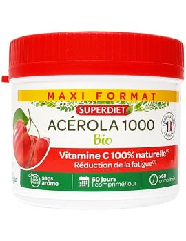 Acerola 1000 Bio 60 comprimes Super Diet Abcbeauté