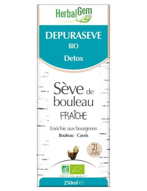 Dépurasève bio 250 ml, Sève de Bouleau, du Laboratoire Herbalgem. Abcbeauté