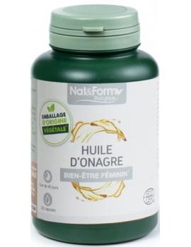 Huile d'onagre 120 capsules Nat et Form acide gamma linolénique Abcbeauté