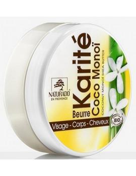 Beurre de Karité Coco Monoï 150ml Naturado nourrissant régénérant Abhcbeauté