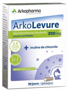 Arkolevure Levure boulardii Saccharomyces boulardii 30 gélules Arkopharma probiotiques immunité Abcbeauté