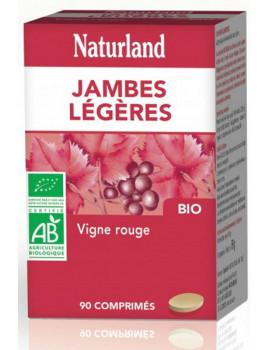 Vigne rouge 90 comprimés bio Jambes légères Naturland anthocyanes vitis vinifera Abcbeauté