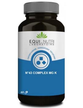 N°43 complex Mg K Manganèse Potassium 60 gélules végétales Equi - Nutri