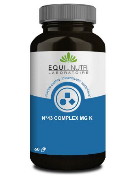 N°43 complex Mg K 60 gélules végétales Equi - Nutri magnésium Potassium Abcbeauté
