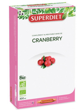 Cranberry Canneberge bio 20 ampoules Super Diet