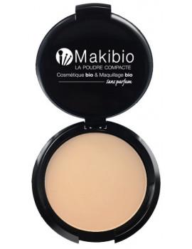 Poudre compacte Claire 9 gr Makibio poudre fond de teint peaux claires maquillage bio Abcbeauté