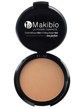 Poudre compacte Dorée 9 gr Makibio maquillage minéral Abcbeauté bonne mine