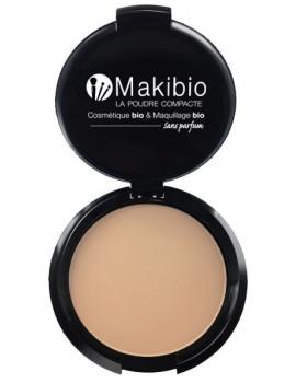 Poudre compacte Nude Naturel 9 gr Makibio maquillage bio Abcbeauté