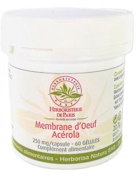 Membrane d'oeuf de poule Collagène Acérola 60 Gélules Herboristerie de Paris glucosamine chondroitine Abcbeauté