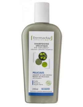 Shampooing Bio Capilargil Bio Pellicules 250 ml Dermaclay huile de cade argile verte romarin Abcbeauté