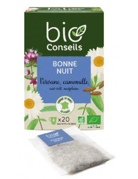Infusion Bonne Nuit bio 20 sachets Bio Conseils tisane du soir bio Abcbeauté