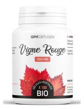 Vigne Rouge Bio 250 mg 200 gélules végétales GPH Diffusion anthocyanes jambes légères Abcbeauté