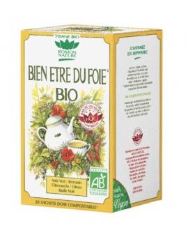 Tisane Bien-être du Foie bio 20 sachets Romon Nature foie ballonnement Abcbeauté